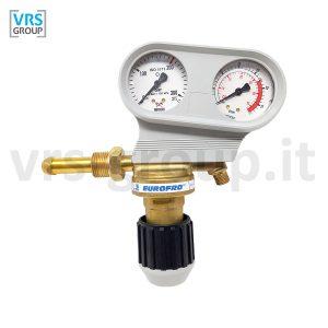 SAF-FRO riduttore di pressione EUROFRO AR-CO2 manoflussometro