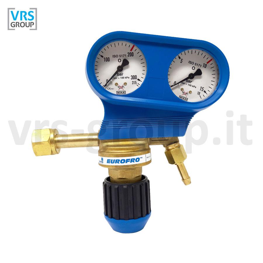 SAF-FRO EUROFRO riduttore di pressione Ossigeno O2 con manoflussometro